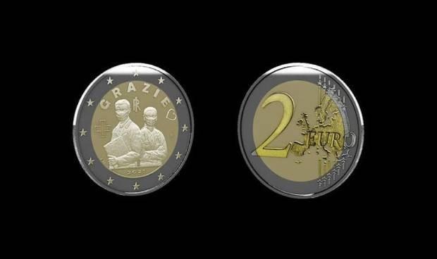 Covid: Italia homenajea a los sanitarios en una nueva moneda de dos euros