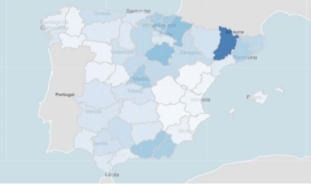 Lleida y otras 8 provincias, las de mayor riesgo Covid en personas mayores