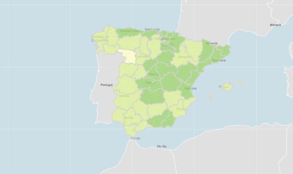 """Solo una provincia española tiene incidencia Covid de """"nueva normalidad"""""""