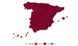 Covid tercera ola: incidencia por encima de 1.000 casos en 6 provincias