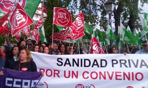 Desconvocada la huelga indefinida de la sanidad privada madrileña