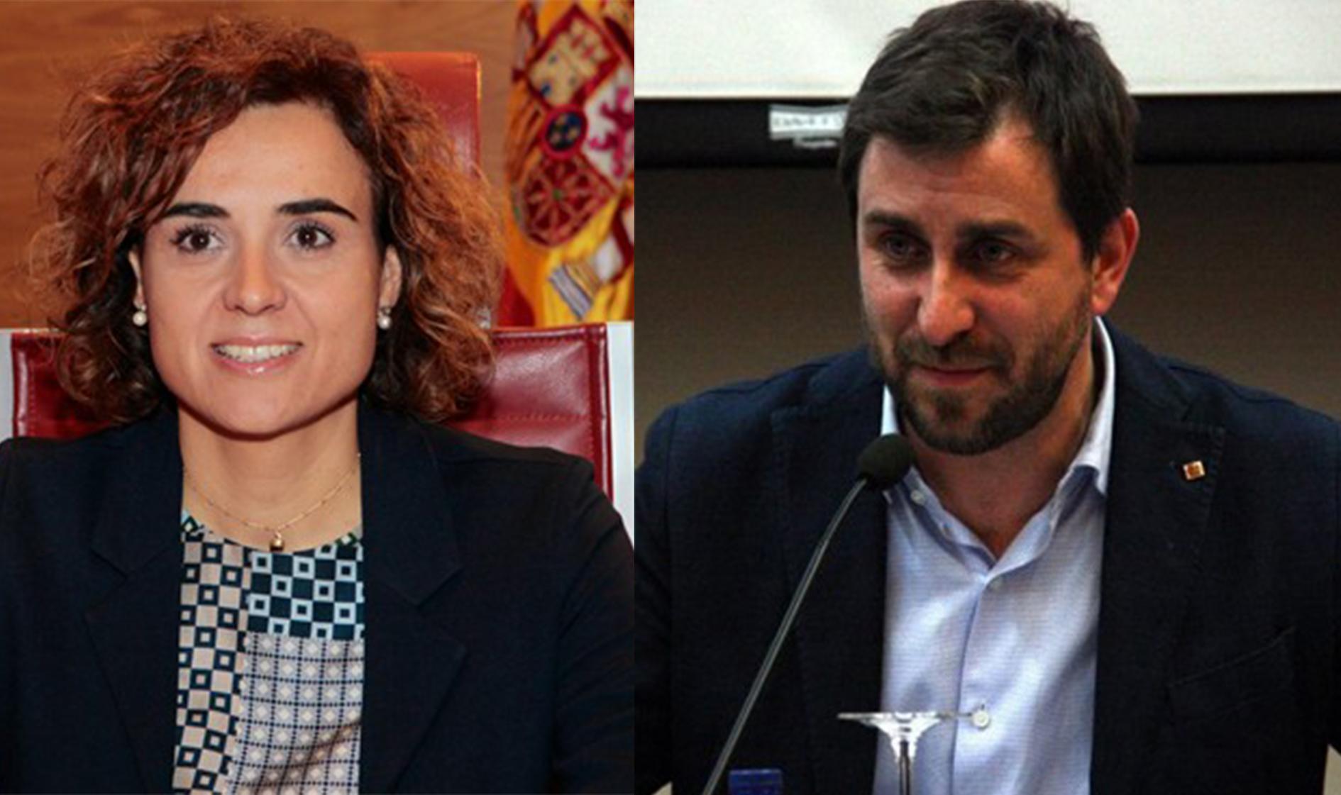 Dolors Montserrat y Antoni Comín