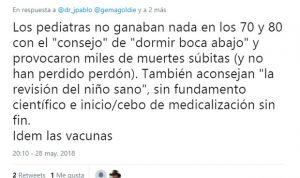 """Dura polémica: Pediatría """"no ha pedido perdón"""" por """"matar"""" a miles de niños"""