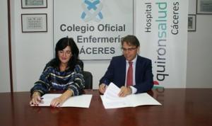 El Colegio de Enfermería de Cáceres firma un convenio con Quirónsalud