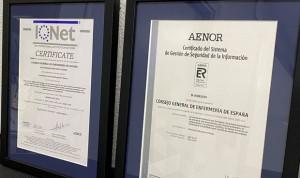 El Consejo General de Enfermería recibe el certificado ISO 27001