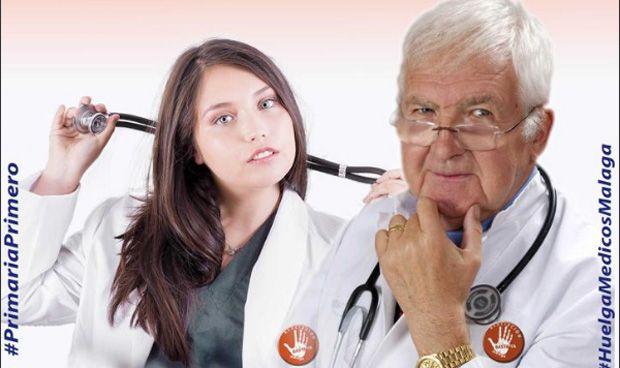 El 'desafortunado' cartel de los médicos de Málaga para ir a huelga