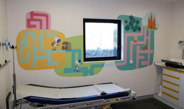 El Hospital de Villalba incorpora una decoración terapéutica en Pediatría