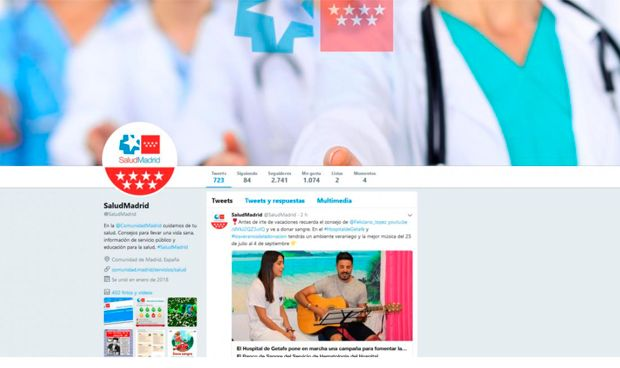 El perfil de Twitter @SaludMadrid suma 2 millones de impresiones en 5 meses