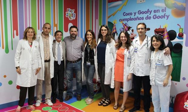 El Servicio de Pediatría de la Jiménez Díaz instala una zona de juego