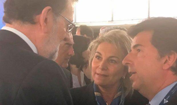 El 'tú a tú' de Cristina Contel y Mariano Rajoy