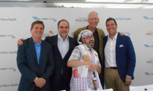 Empleados de Bristol-Myers Squibb pedalean 650 km contra el cáncer infantil