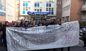 """Empleados de Vithas San José: """"Somos los peor pagados de Euskadi"""""""