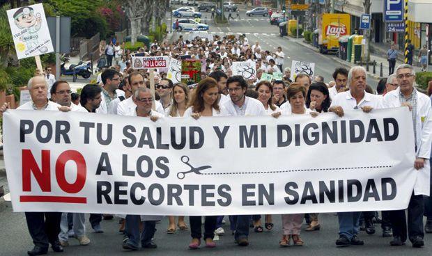 España pertenece a la Europa médica que prefiere manifestación a huelga