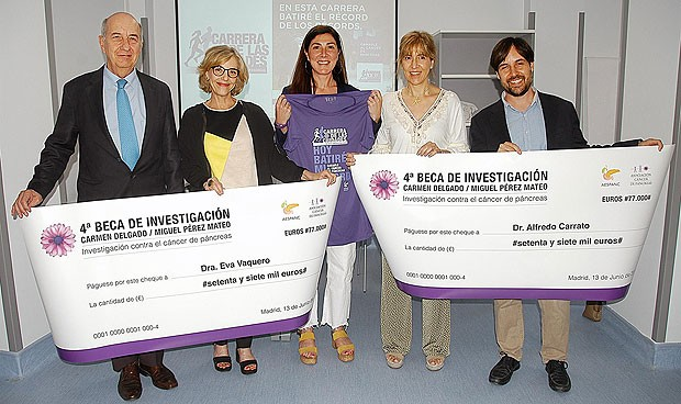 Eva Vaquero y Alfredo Carrato, becas de investigación en cáncer de páncreas