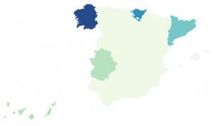 Así evoluciona la variante india del Covid-19 en España, región por región