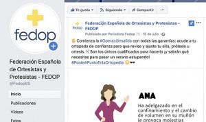 Éxito en redes de la campaña 'Ponte a punto en la Ortopedia' de la Fedop