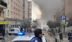 Fuerte explosión en el centro de Madrid cerca de una residencia de mayores