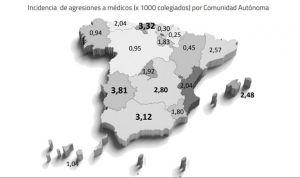 Extremadura es la CCAA con la media más alta de agresiones a médicos