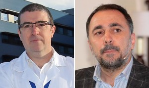 Félix Rubial, gerente de la EOXI de Ourense; y Julio García, de la de Vigo