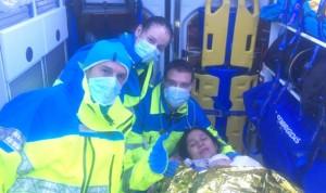 Un parto en mitad del temporal: el Summa 112 asiste a una madre y a su bebé