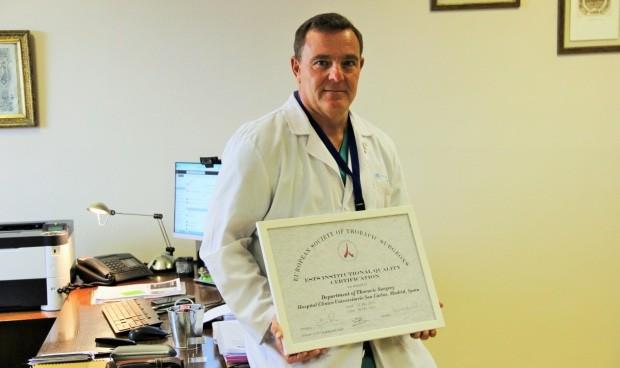 El Clínico San Carlos, acreditado por la Sociedad Europea de Cirugía Torácica