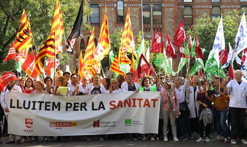 Frente común de los sindicatos catalanes en el convenio del Siscat