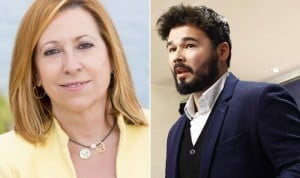 Gabriel Rufián llama desleal a Montserrat Candini por criticar a Comín