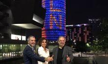 Glòries se ilumina para decir que Barcelona está lista para la EMA