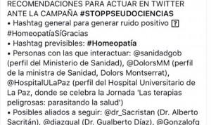 Guerra abierta en redes entre #HomeopatíaSíGracias y #StopPseudociencias