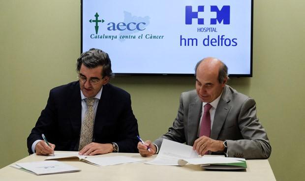 HM Delfos y AECC, juntos para apoyar al paciente oncológico en Cataluña