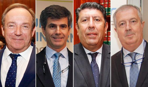 Javier Castrodeza, Adolfo Fernández-Valmayor, Manuel Vilches y Luis Mayero
