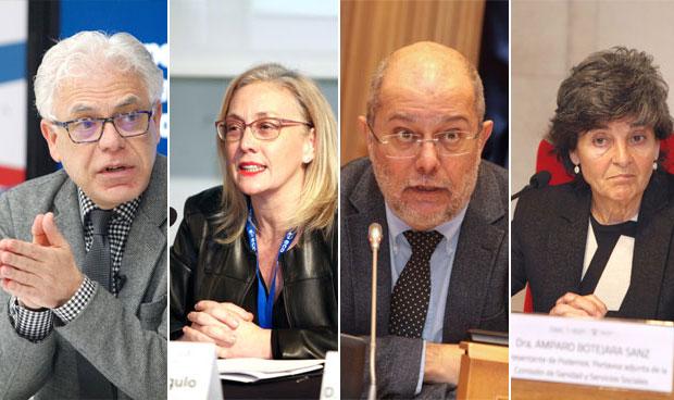Jesús María Fernández, Teresa Angulo, Francisco Igea y Amparo Botejara