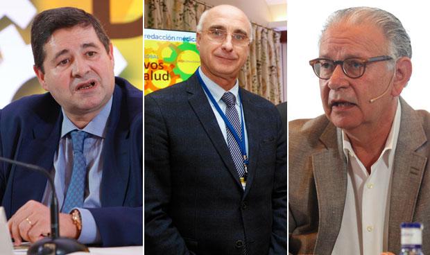 Joaquín Estévez, Jesús Sanz y Manuel Huerta