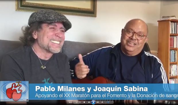 Joaquín Sabina se vuelca con las necesidades de la sanidad madrileña