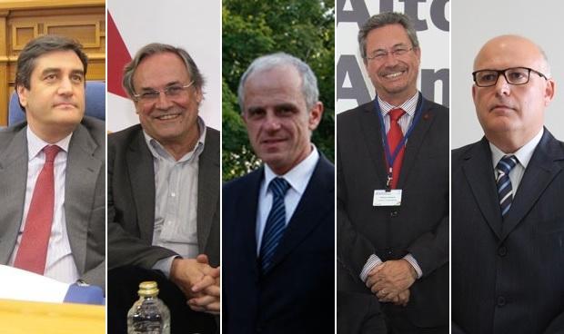 José Ignacio Echániz, Albert Serra, Jon Etxeberria, Ricardo Campos y Francisco Agulló