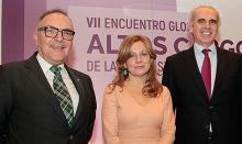 José Manuel Baltar, Marina Álvarez y Enrique Ruiz Escudero