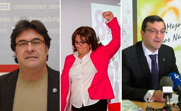 Julián Carretero, Patrocinio Sánchez y Benito Román