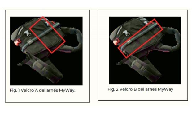 La Aemps avisa de la pérdida de adhesividad del velcro del arnés MyWay