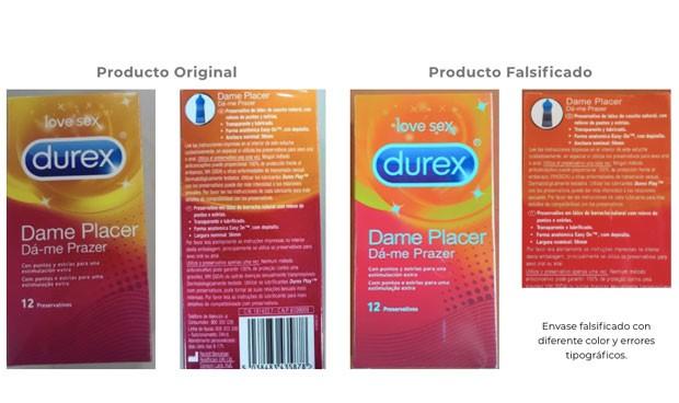 La Aemps detecta preservativos falsificados de la serie Durex Dame Placer