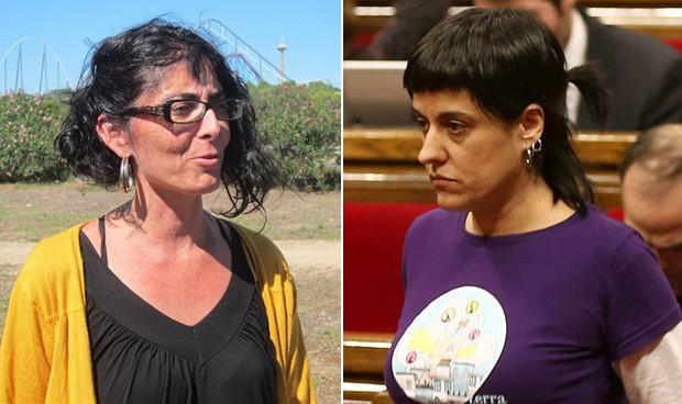Marta Llorens y Ana Gabriel, concejala y diputada de la CUP