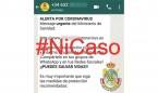 La Guardia Civil alerta de un bulo en Whatsapp sobre el coronavirus