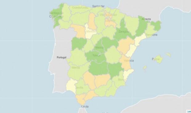 La incidencia Covid aumenta en 13 provincias la última semana