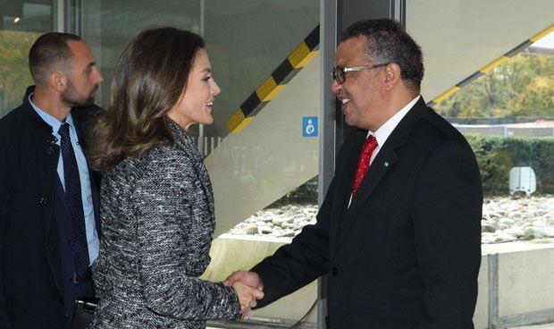 La realeza española visita la sede de la OMS
