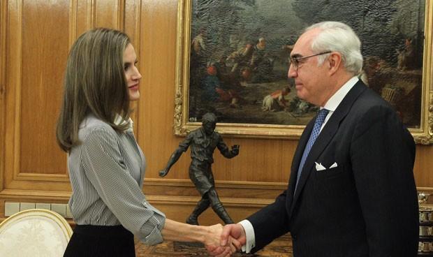 La Reina recibe a la delegación de la Fundación Vianorte-Laguna
