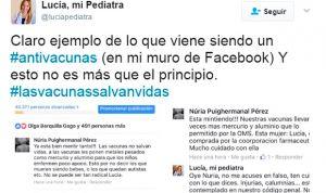 La respuesta de una pediatra atacada por una 'antivacunas' se hace viral