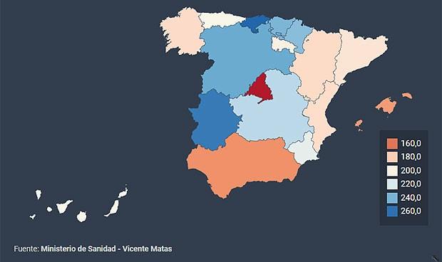 El gasto por habitante en Atención Primaria casi se dobla según la región