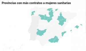 Estas son las provincias que más mujeres sanitarias han contratado en 2019