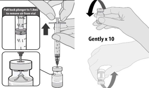 Los 8 pasos para que la enfermera prepare cada dosis de vacuna Covid Pfizer