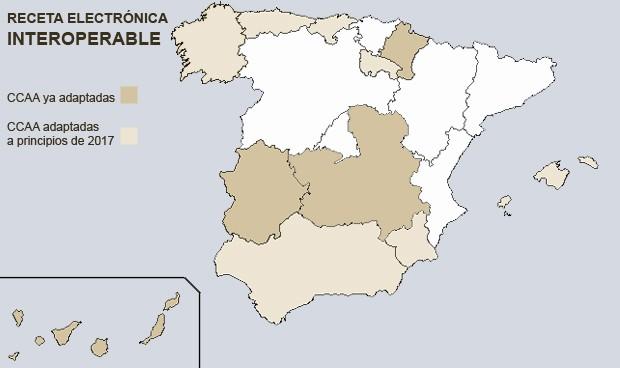Las dos Españas de la receta electrónica interoperable