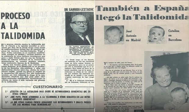 Las primeras menciones de la prensa española al desastre de Grünenthal